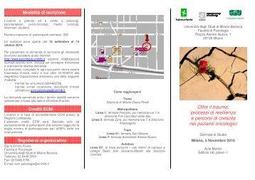 Brochure - Psicologia - Università degli Studi di Milano-Bicocca