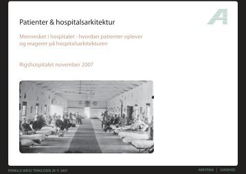 Patienter & hospitalsarkitektur