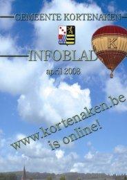 infoblad april 2008 - Gemeente Kortenaken