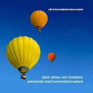 Sänk vikten och förbättra prestanda med ... - Carlsson & Möller