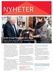 KAN Frisør feirer 40 år i Vika - Storebrand