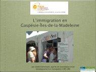 L'immigration en Gaspésie et aux Îles-de-la ... - CLD d'Avignon