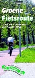 Groene fietsroute Stadsrand Groene As - pdf - Stadsdeel Nieuw-West