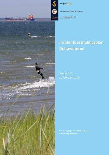 Incidentbestrijdingsplan Deltawateren - Veiligheidsregio Zeeland