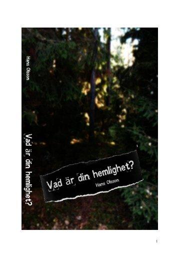 Vad är din hemlighet? - HansOlsson.net