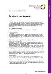 De ziekte van Menière - Streekziekenhuis Koningin Beatrix