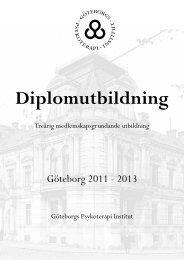 Broschyr - Göteborgs Psykoterapi Institut