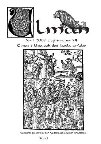 Nr 1 2002 Utgifning nr 74 Timat i Uma och den kända verlden