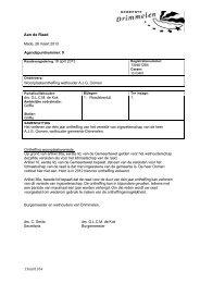 09 1 RV Woonplaatsontheffing wethouder AJG Oomen - Gemeente ...