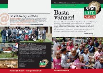 Här kan du läsa nyhetsbrevet i pdf format - New Life Mission