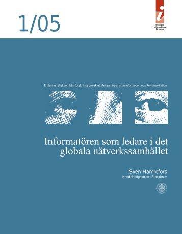 1/05 Informatören som ledare i det globala nätverkssamhället