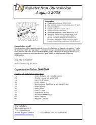 Nyheter från Stureskolan Augusti 2008