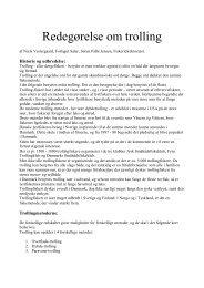 Redegørelse om trolling - Hobro Både og Fiskerihavn