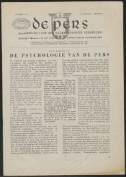 DE PSYCHOLOGIE VAN DE PERS