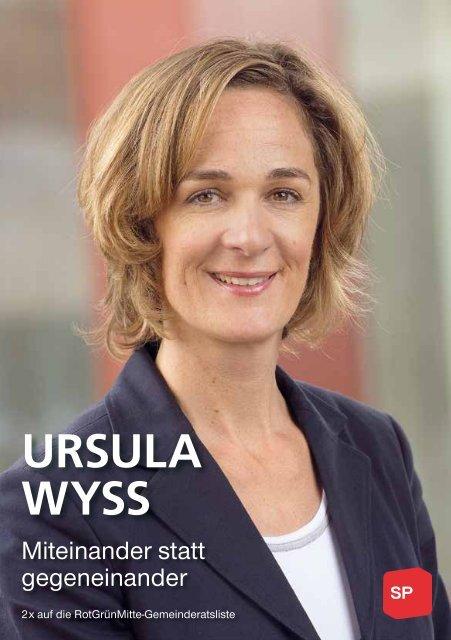Flyer von Ursula Wyss