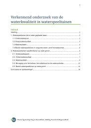 Verkennend onderzoek van de waterkwaliteit in waterspeeltuinen