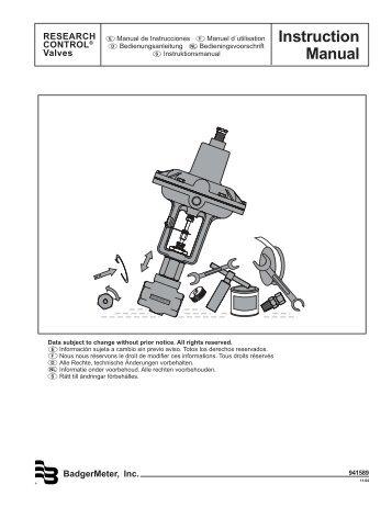 Instruction Manual - Badger Meter, Inc.