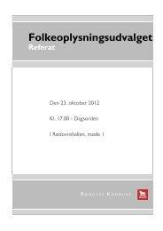 Tirsdag 23-10-2012 kl. 17:00 - Rødovre Kommune