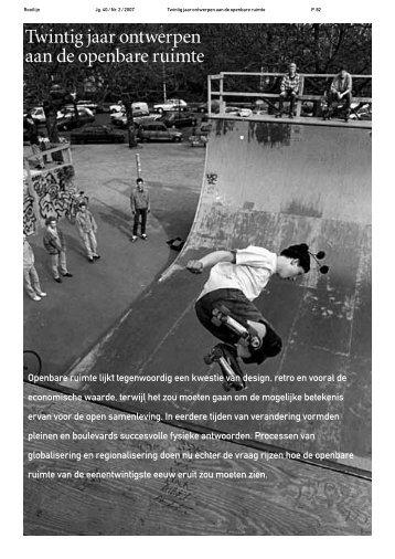 Twintig jaar ontwerpen aan de openbare ruimte - Rooilijn
