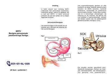 BPPV Benigne paroxysmale positionerings Vertigo - Een-en-al-oor
