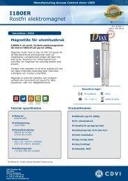 Produktblad, 468 Kb - CDVI Sweden Ab