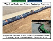 Weighted Sediment Tubes: Perimeter Controls - ACF Environmental