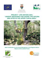 PEFC Certification for the Forest Management of the Regional ...