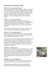Referat från våra aktiviteter 2009 - vasa orden av amerika