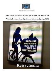 Reisschema - Nederlands Instituut Studiereizen