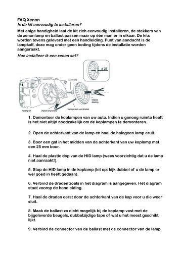 installatie tips voor het aansluiten van xenon verlichting autoalarm