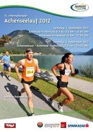 Download Folder Achenseelauf 2012 - Karwendel Blog