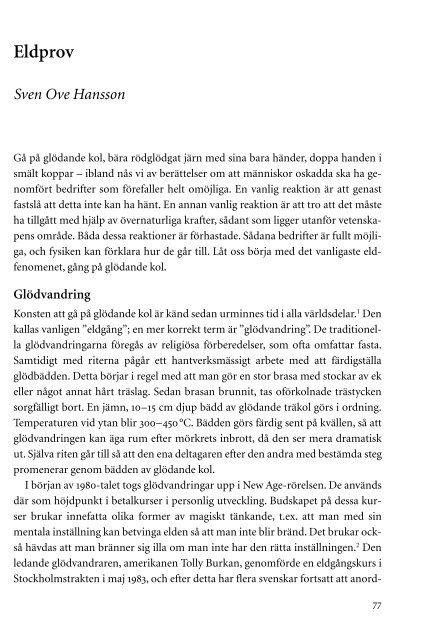 Eldprov Sven Ove Hansson - Elib