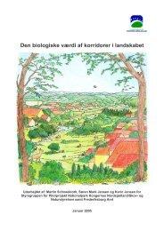 Den biologiske værdi af korridorer i landskabet - Danmarks ...