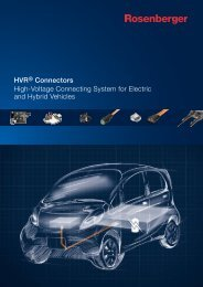High-Voltage Connecting System for Electric and Hybrid Vehicles ...
