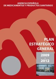Plan Estratégico General de la AEMPS 2009-2012 - Agencia ...