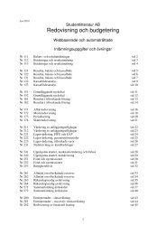 Redovisning och budgetering - Den här webbplatsen används för ...