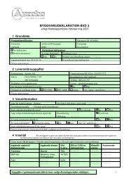 Byggvarudeklaration Uniboard - Aprobo AB