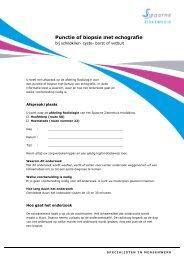 Punctie of biopsie met gebruik van echografie - Spaarne Ziekenhuis