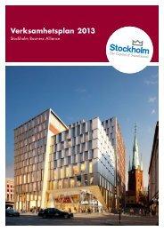 SBA:s verksamhetsplan 2013 - Stockholm Business Region