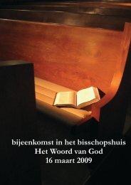 bijeenkomst in het bisschopshuis Het Woord van ... - Bisdom Breda