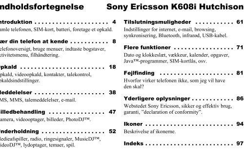 UG K608i Hutchison, R1a DA - Brugte mobiler af Nokia og Sony ...