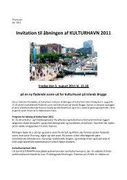 Invitation til åbning af Kulturhavn