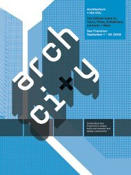 Architecture + the City The Official Guide to Tours, Films, Exhibitions ...