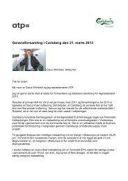 Generalforsamling i Carlsberg den 21. marts 2013 - ATP