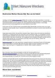 Boekreview 'Werken Nieuwe Stijl' – Bas van ...