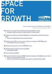 MONTEA blikt tevreden terug op beursintroductie - Business Immo