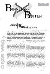 Het maart 2009 nummer van BinnensteBuiten - Onze Weg
