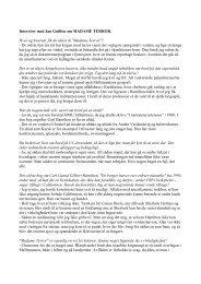 Læs interview med Jan Guillou om MADAME TERROR - Modtryk