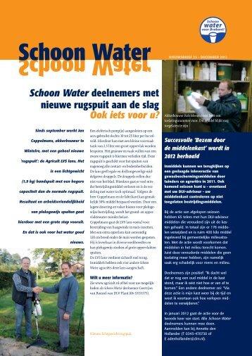 Nieuwsbrief 23 - Schoon water voor Brabant