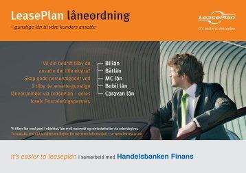 LeasePlan låneordning